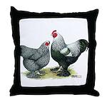 Dark Brahma Chickens Throw Pillow