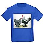 Dark Brahma Chickens Kids Dark T-Shirt