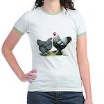 Dark Brahma Chickens Jr. Ringer T-Shirt