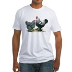 Dark Brahma Chickens Fitted T-Shirt