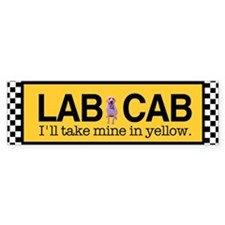 Yellow Lab Bumper Bumper Sticker