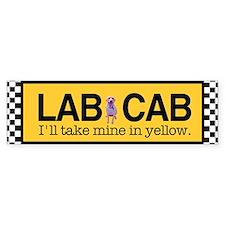 Yellow Lab Bumper Bumper Sticker