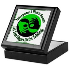Cute Sign language Keepsake Box