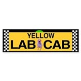 Yellow Lab Cab Bumper Car Sticker