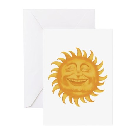 HERE COMES THE SUN Greeting Cards (Pk of 10)