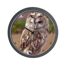 Winking Owl Wall Clock