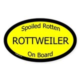 Spoiled Rottweiler On Board Oval Stickers