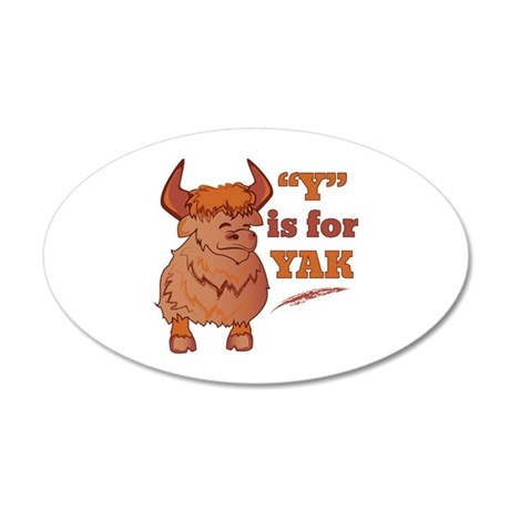 Y Is For Yak Wall Decal