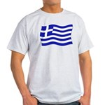 Waving Greek Flag Ash Grey T-Shirt