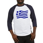 Waving Greek Flag Baseball Jersey