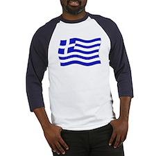 Waving Greek Flag Baseball Jersey