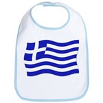 Waving Greek Flag Bib