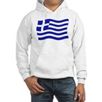 Waving Greek Flag Hooded Sweatshirt
