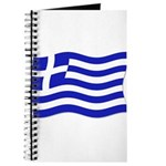 Waving Greek Flag Journal