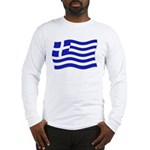 Waving Greek Flag Long Sleeve T-Shirt