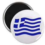 Waving Greek Flag Magnet