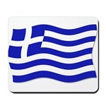 Waving Greek Flag Mousepad