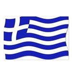 Waving Greek Flag Postcards (Package of 8)