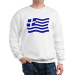 Waving Greek Flag Sweatshirt