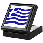 Waving Greek Flag Keepsake Box