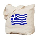 Waving Greek Flag Tote Bag
