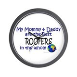 Best Roofers In The World Wall Clock
