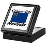 Carson City Nevada Keepsake Box