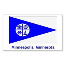 Minneapolis MN Flag Rectangle Decal