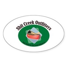 Shit Creek Paddles Oval Bumper Stickers
