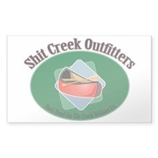 Shit Creek Paddles Rectangle Decal