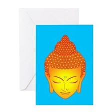 golden buddha Greeting Card