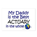 Best Actuary In The World (Daddy) Postcards (Packa