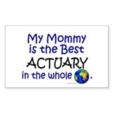 Best Actuary In The World (Mommy) Decal