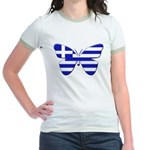 Greek Butterfly Jr. Ringer T-shirt