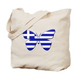 Greek Butterfly Tote Bag