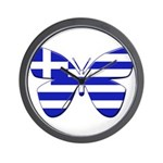 Greek Butterfly Wall Clock