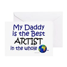Best Artist In The World (Daddy) Greeting Card