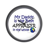 Best Appraiser In The World (Daddy) Wall Clock