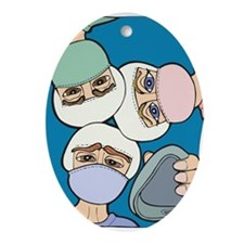 Surgery Get well gifts Oval Ornament