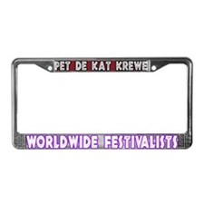 Pet de Kat Krewe License Plate Frame