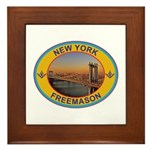 New York Freemason Framed Tile
