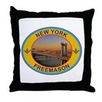 New York Freemason Throw Pillow