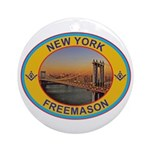 New York Freemason Ornament (Round)