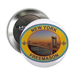 New York Freemason Button
