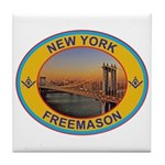 New York Freemason Tile Coaster
