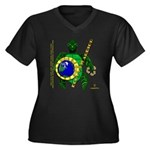 Eco-Warrior Women's Plus Size V-Neck Dark T-Shirt