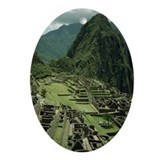 MACHU PICCHU Oval Ornament