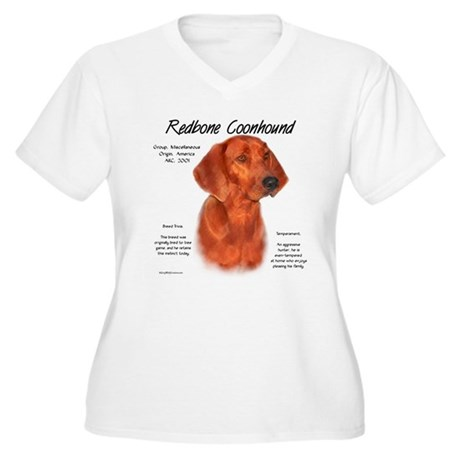 Redbone Coonhound Women's Plus Size V-Neck T-Shirt