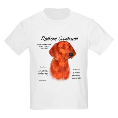 Redbone Coonhound Kids Light T-Shirt