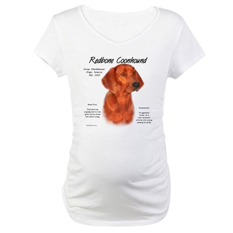 Redbone Coonhound Maternity T-Shirt